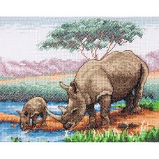 PCE966 Набор для вышивания Anchor 'Носороги'23*18см