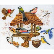 APC942 ANCHOR Набор для вышивания 'Кормушка для птиц' 36х45 см