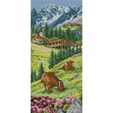 PCE0811 ANCHOR Набор для вышивания 'Швейцарские Альпы' 32x14 см