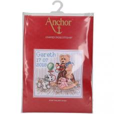 ACS48 ANCHOR Набор для вышивания 'Мишкин день рождения' 18х18 см