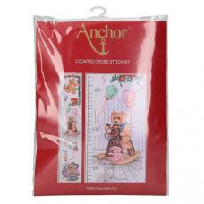 PCE962 ANCHOR Набор для вышивания ростомер медвежий 78x14 см