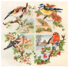 PCE880 ANCHOR Набор для вышивания 'Птицы и сезоны' 30х30 см