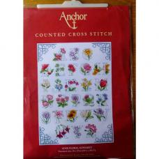 ACS20 ANCHOR Набор для вышивания 'Цветочный алфавит' 39х27 см