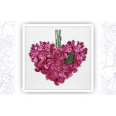 005 Набор для вышивания крестом Astrea 'Фиолетовое сердце. Май' 27х26см