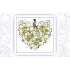 012 Набор для вышивания крестом Astrea 'Морозник сердце. Январь' 25х23см