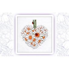 014 Набор для вышивания крестом Astrea 'Ромашковое сердце. Июнь' 34х37см