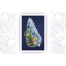 406 Набор для вышивания крестом Astrea 'Ловец снов-Птица' 17х30см