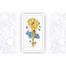 505-1 Набор для вышивания крестом Astrea 'Девушка Зима' 16х30см