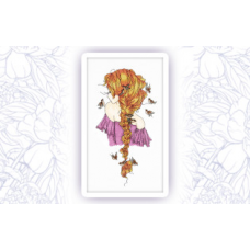 505-3 Набор для вышивания крестом Astrea 'Девушка Лето' 16х30см