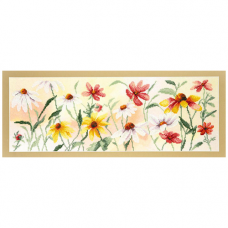 РК-110 Набор для вышивания Чарівна Мить 'Красочные цветы' 41*14,5 см