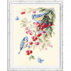 130-021 Синицы и вишня