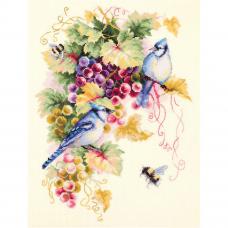 130-022 Сойки и виноград