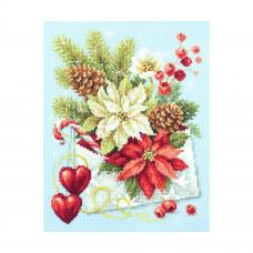 100-241 Набор для вышивания Чудесная игла 'С Рождеством!'17х22см