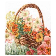 3064 Корзина цветов, лён