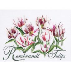 447 Тюльпаны Рембрандт, лён