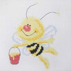 214 Набор для вышивания Hobby & Pro Kids 'Пчелка' 19*19см