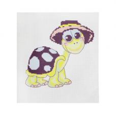 218 Набор для вышивания Hobby & Pro Kids 'Черепашка в шляпе' 19*19см