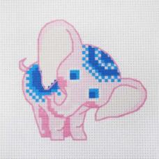 220 Набор для вышивания Hobby & Pro Kids 'Розовый слоненок' 19*19см