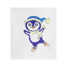 223 Набор для вышивания Hobby & Pro Kids 'Пингвинчик' 19*19см
