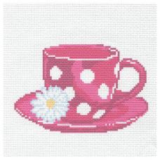 229 Набор для вышивания Hobby & Pro Kids 'Любимая чашка' 19*19см