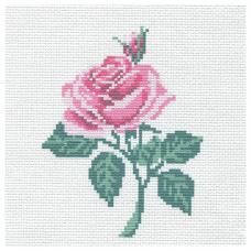 230 Набор для вышивания Hobby & Pro Kids 'Роза' 19*19см