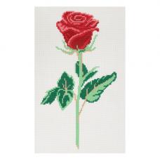 10/НП Наборы для вышивания нитками с паспарту Hobby&Pro 'Роза' 22*38см