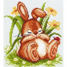 1059 Набор для вышивания Матренин Посад 'Спящий кролик' 28*37см