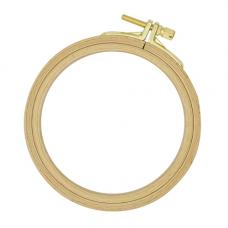100-1 Пяльцы круглые буковые, d=100 мм, выс. обода 8 мм, Nurge Hobby