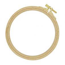 100-2 Пяльцы круглые буковые, d=130 мм, выс. обода 8 мм, Nurge Hobby