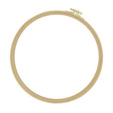 100-6 Пяльцы круглые буковые, d= 250 мм, выс. обода 8 мм, Nurge Hobby