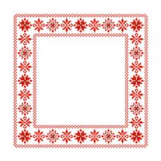 ККСН 014 Набор салфетка для вышивки крестом «Оберег 'Алатырь Крес'» 45*45см