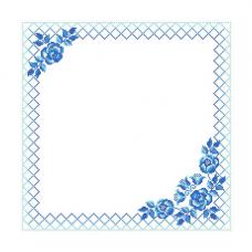 ККСН 015 Набор салфетка для вышивки крестом 'Гжель' 45*45см