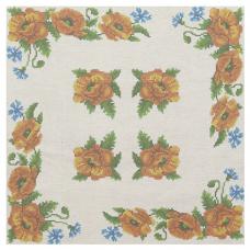 ККПН 01(лен) Набор наволочка на подушку для вышивки крестом « Маки» 45*45см