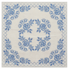 ККПН 04(лен) Набор наволочка на подушку для вышивки крестом « Гжель» 45*45см