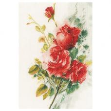 0151016-PN Набор для вышивания LanArte 'Букет красных роз' 21x30 см