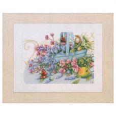 0151014-PN Набор для вышивания LanArte 'Букет с бабочкой' 36x26 см