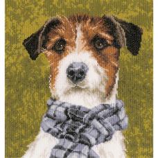 0167505-PN Набор для вышивания Lanarte 'Собака с шарфом' 28*29 см