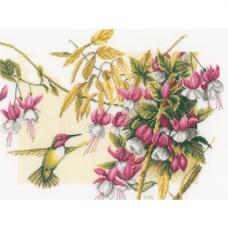 0165379-PN Набор для вышивания Lanarte 'Колибри и фуксия' 38*30 см