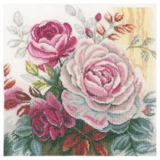 PN-0165376 Набор для вышивания LanArte 'Розовая роза' 25*25см
