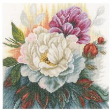 PN-0165377 Набор для вышивания LanArte 'Белая роза' 25*25см