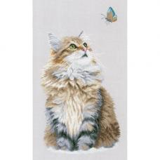 PN-0171041 Набор для вышивания LanArte 'Лесной кот' 25*42см