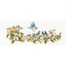 PN-0173176 Набор для вышивания LanArte 'Лазоревки и цветы' 61*26см