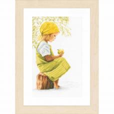 PN-0021200 Набор для вышивания LanArte 'Девочка с яблоком' 20x30