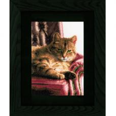 0021762-PN Набор для вышивания LanArte 'Расслабившийся Тэбби' 24x34 см