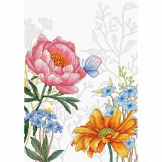 BU4019 Набор для вышивания Luca-S 'Цветы и бабочкa' 22,5*31,5см