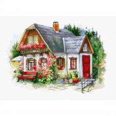 BU4005 Набор для вышивания 'Красивый загородный домик' 34*24см, Luca-S