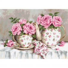 BA2320 Набор для вышивания 'Утренний чай и розы' 48*35см, Luca-S