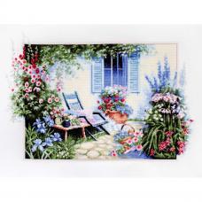 B2342 Набор для вышивания 'Цветочный сад' 42*28см, Luca-S