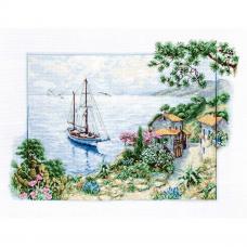 B2343 Набор для вышивания 'Морской пейзаж' 38,5*28см, Luca-S