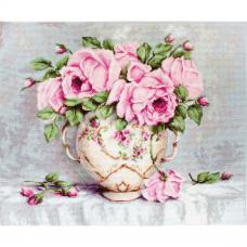 B2319 Набор для вышивания 'Розовые розы' 34,5*28см, Luca-S